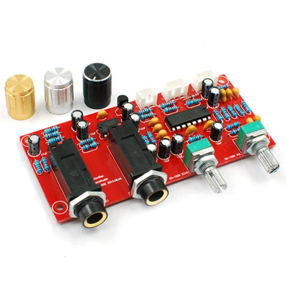 Castanets Pt2399 Ne5532 Karaoke Microphone Sound Amplifier Board Reverb Amplifier Board With Dc Front Panel 9-24v