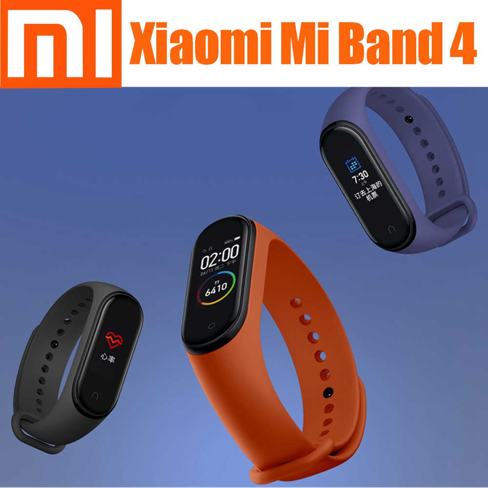 Xiaomi Mi Band 4 Smart band 4 Color Screen Bracelet Heart Rate Fitness Music Bluetooth 50M Waterproof xiaomi bracelet 4 MiBand