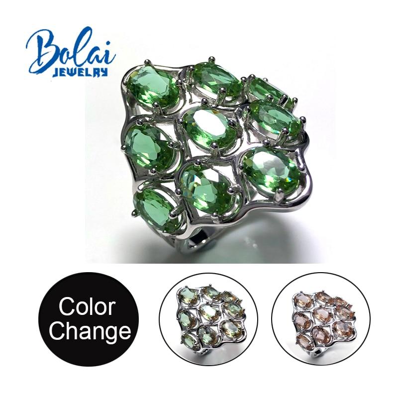 Takı ve Aksesuarları'ten Halkalar'de Bolaijewelry, Zultanite yüzük 925 ayar gümüş büyük boyutu yüzükler oluşturulan renk değişimi taş kadınlar için günlük giyim güzel takı'da  Grup 1