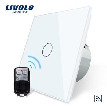 Livolo EU Standard Remote Switch, AC 220~250V Wall Light Remote Touch Switch With Mini Remote Controller C701R-11-RT12,no logo livolo eu standard remote switch 220 250v wall light remote touch switch vl c701r 15 without any remote controller