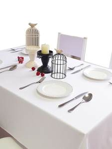 Table-Cover Hotel-Decoration Rectangle Wedding-Event Linentable White Cotton Party