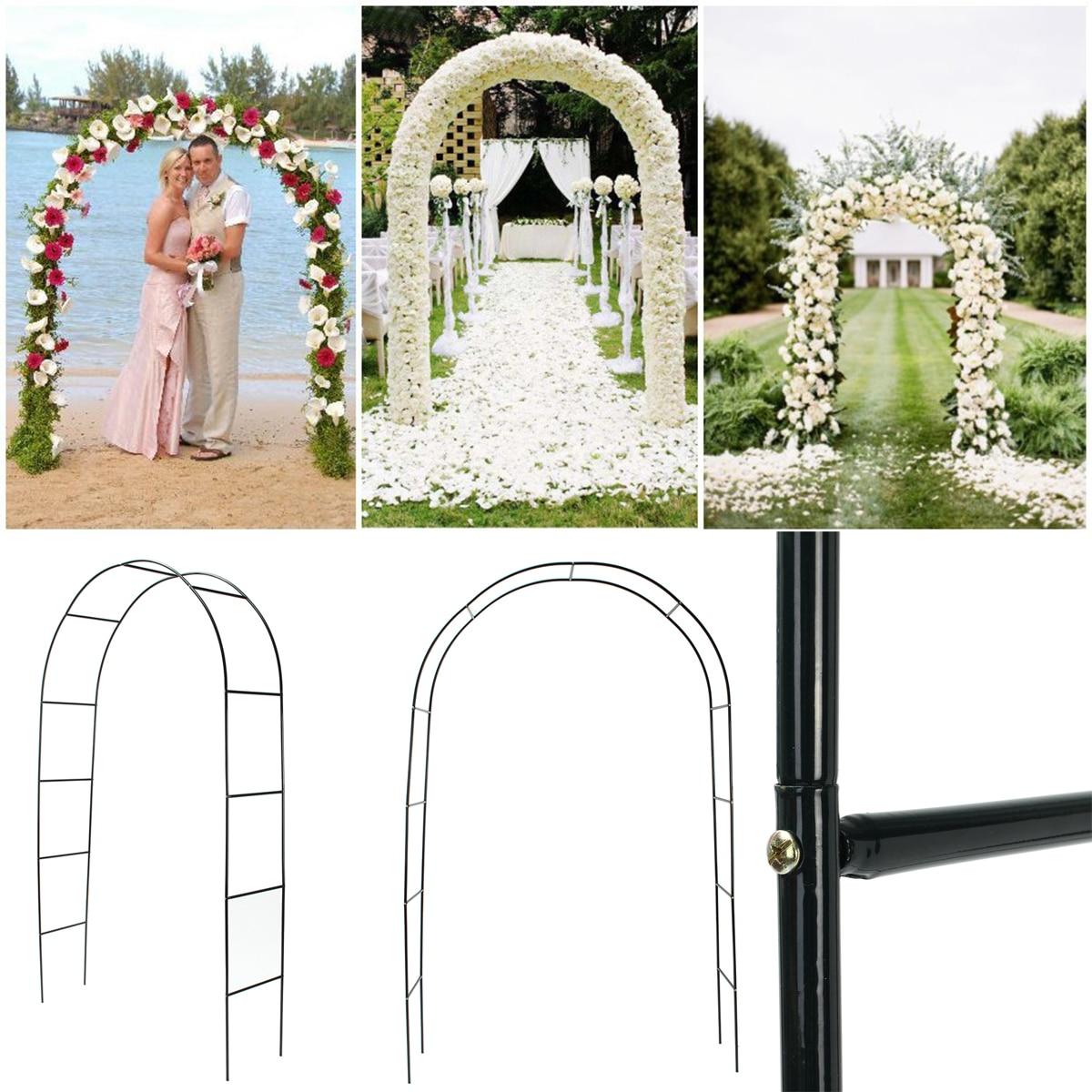 Iron Wedding Arch Decorative Garden Backdrop Pergola Stand Flower Frame For Marriage birthday wedding Party Decoration DIY Arch(China)