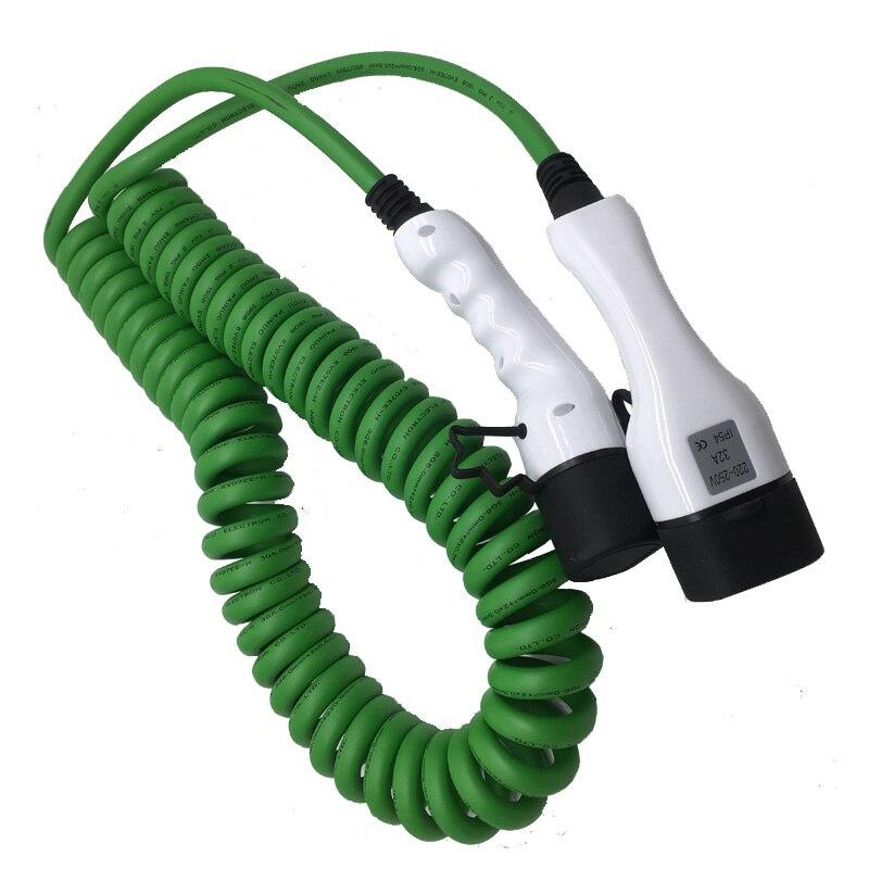 32a cable ev de una fase tipo 2a cable de resorte tipo 2 cargador EV para vehículo eléctrico iec 62196 32a evse kit
