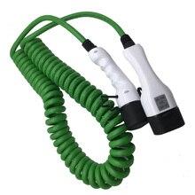 32a jednofazowy kabel ev typu 2 do typu 2 sprężyna drutu ładowarka ev dla pojazd elektryczny iec 62196 32a evse kit