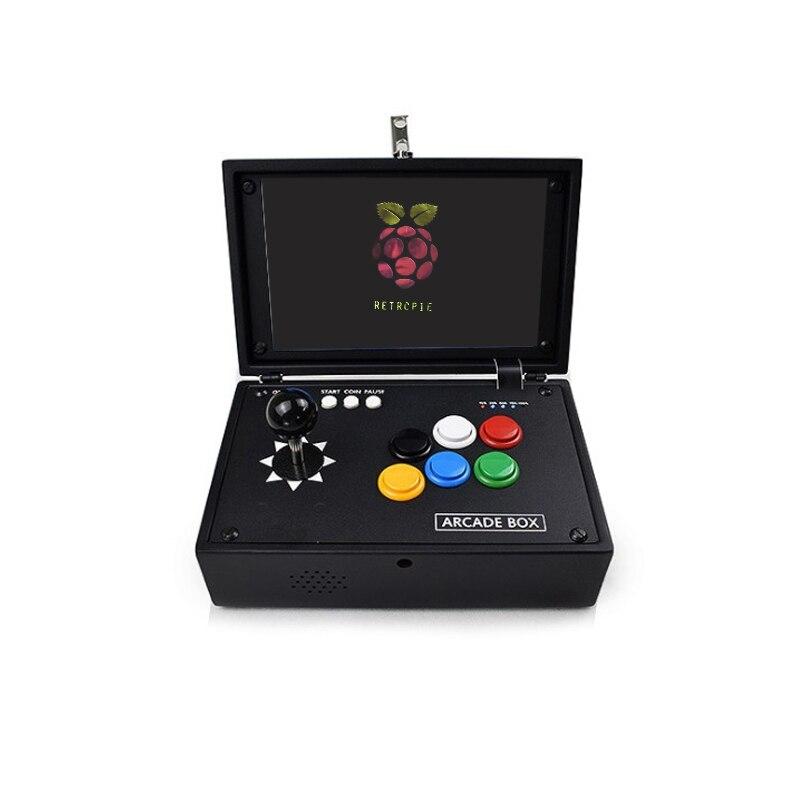 Raspberry Pi 4B 10-дюймовая ЖК-игровая консоль включает в себя 10000 игр, установленную мини-аркадную машину Retropie