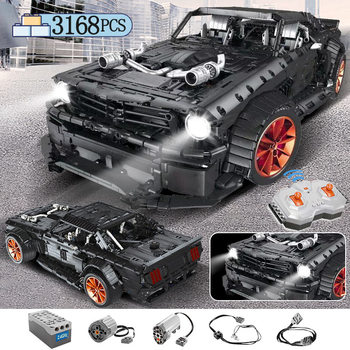3168pcs MOC RC /non-RC Ford Mustang Hoonicorn RTR V2 Building Block For Technic Racing City Car Led Bricks Toys for Children