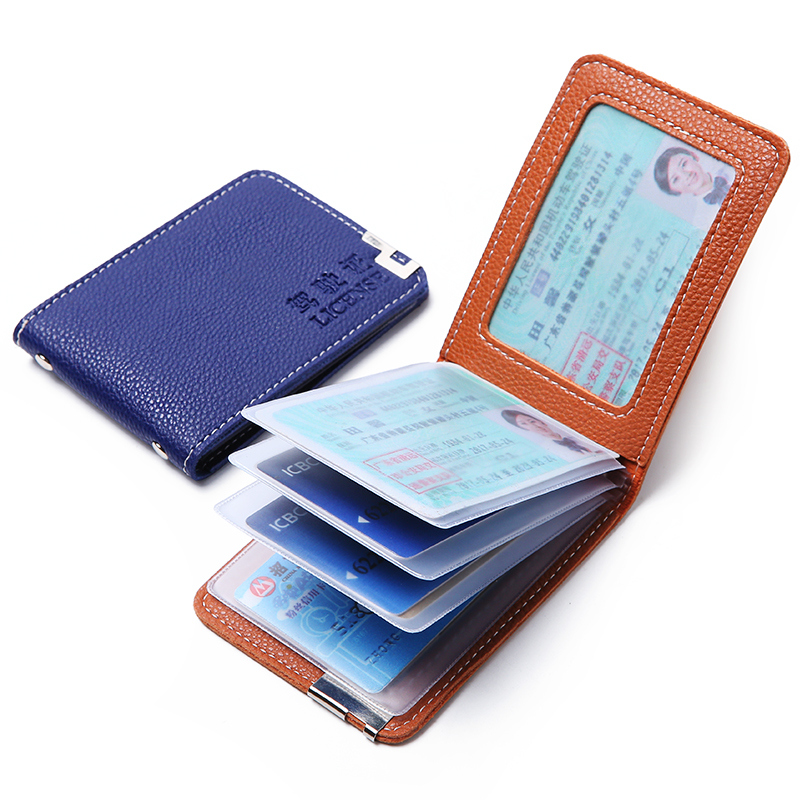 2019 New Fashion Men Women Driving License Cover High Quality Leather ID Credit Card Holder Case Bags Carteira Feminina Male Man