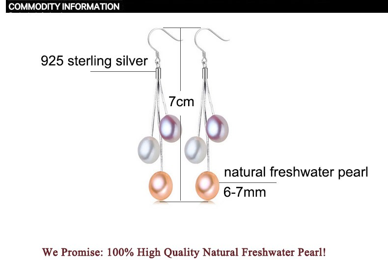 He00881f17c28463ba32469c51614189bb - ZHBORUINI 2019 Pearl Earrings Natural Freshwater Pearl Tassels Pearl Jewelry Drop Earrings 925 Sterling Silver Jewelry For Woman