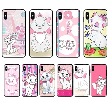 For Samsung Galaxy Note 4 8 9 10 20 Plus Pro Ultra J6 J7 J8 M30s M80s 2017 2018 Aristocats Marie Black Soft TPU Case Coque image