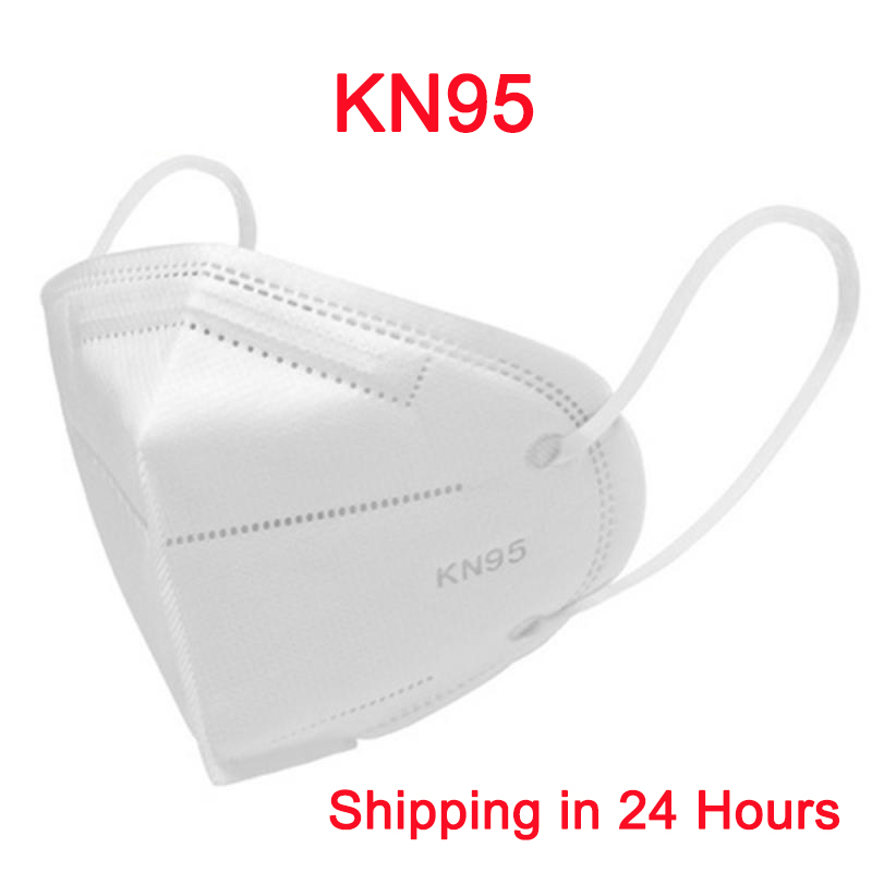 KN95 Dust Face Mask Anti-Haze Fog PM2.5 5-Ply Filtering Protective Mask Dustproof Nonwoven Earloop Profession Facial Face MasKs