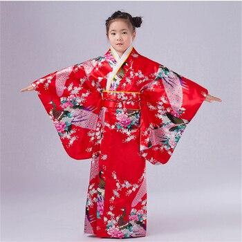 Kimono Japonés Rebeca Tradicional Obi Yukata Mujeres Kimonos