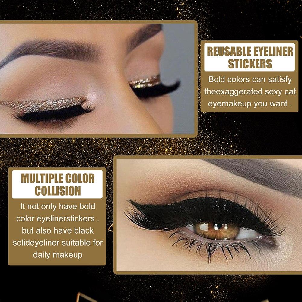 Reusable Glitter Eyeliner Eyelash Stickers