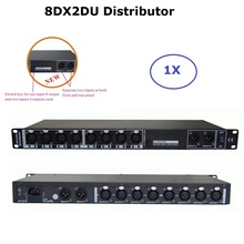 2020 Newest Stage Light Controller DMX512 Splitter Light Signal Amplifier Splitter 8 Way DMX Distributor With Two Inputs Ports