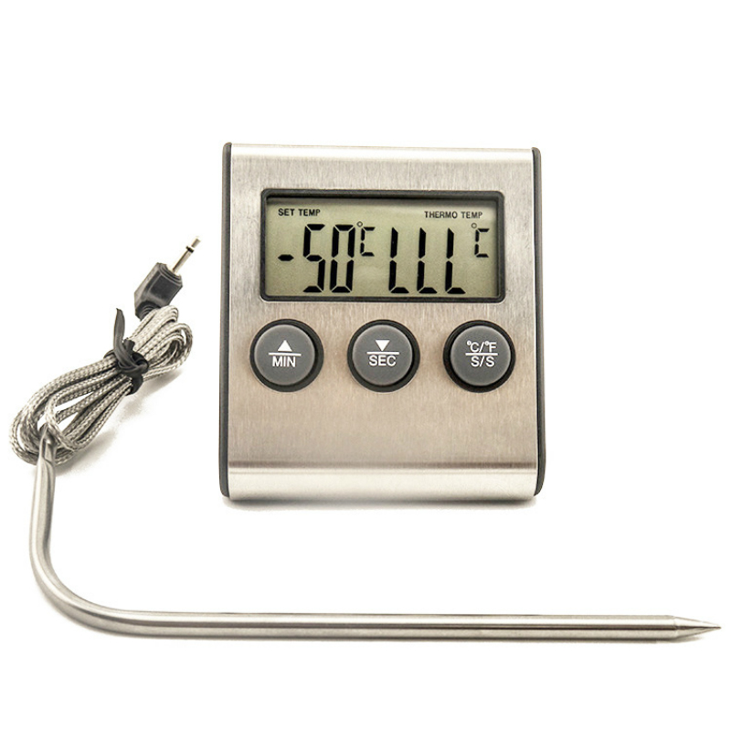 1pcs -50~300 Degrees Celsius LCD Digital Probe Oven Thermometer Kitchen Timer Cooking BBQ Clock Alarm Sensor