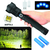 150000 Lumens XHP70 5 Mode LED USB Rechargeable 18650 26650 Flashlight Torch