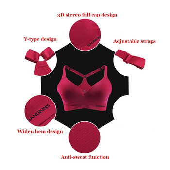 Santic Women Sport Bras Push Up Stretch Cycling Workout Tank Tops short Running Sport Bra Top Fitness Yoga sports T-shirt Vest 5