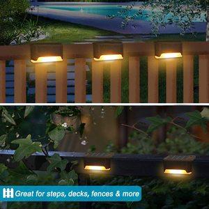 Солнечный свет палубы светодиодный солнечный свет наружный водонепроницаемый светильник на солнечной батарее для ограждения для сада Пут...