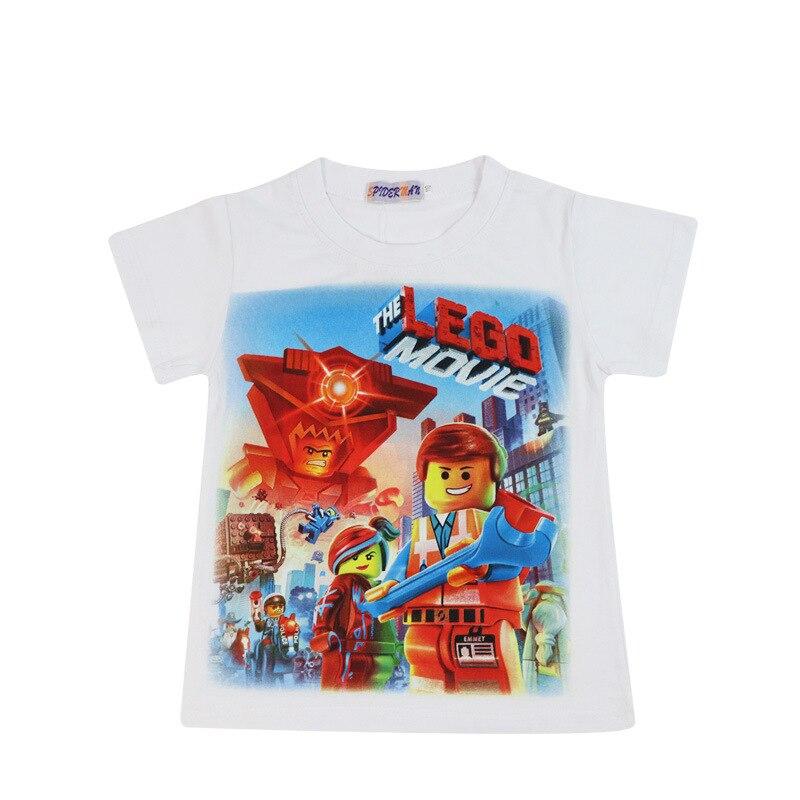 2019 Childrenswear BOY'S Summer New Products Children Baby Short-sleeved Round Collar T-shirt Pure Cotton Cartoon LEGO