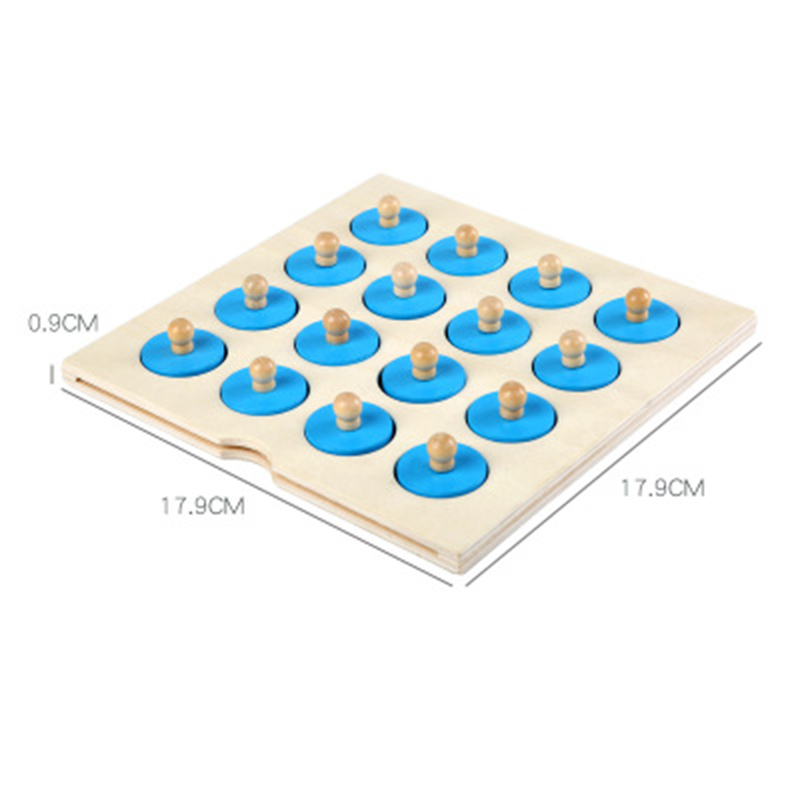 Montessori memory chess game 3D wooden puzzle board logic toy interaction early learning educational toys for children kids mini 5