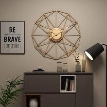 50 センチメートル大サイレント鉄アート壁実装するクロックモダンなデザインの時計家の装飾のためオフィスヨーロッパスタイル壁時計時計壁時計