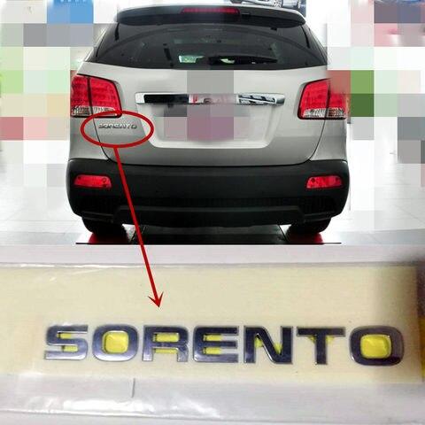 emblema traseiro genuino do logotipo do tronco para kia sorento 2009 2014 tampa traseira do