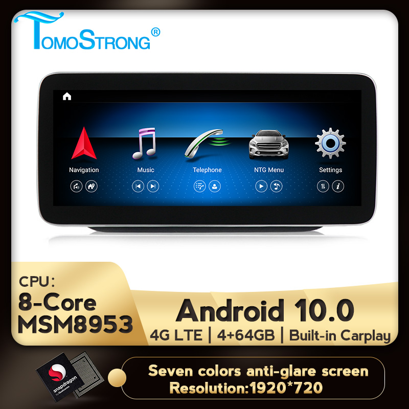 Android 10 4GB 64GB car multimedia player support BT WIFI 4G LTE split screen For <font><b>Mercedes</b></font> benz B class <font><b>W246</b></font> W245 2011-2019 image