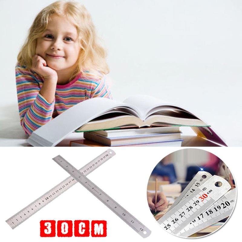 Ruler 12 Inch Precision 30cm Straight Edge Rulers Stainless Steel Double Sided Small Ruler