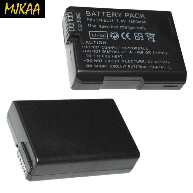 7.4 V 1500 mAh EN-EL14 Batteries ENEL14 EN EL14 batterie de caméra Ffor adapté aux caméras avec des performances stables