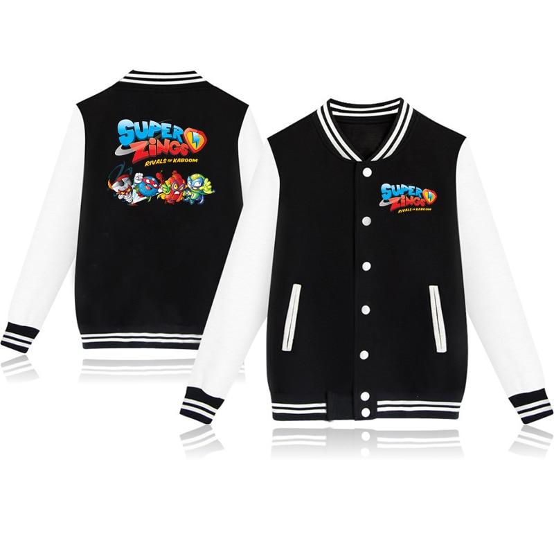 New Pattern Boys Girls Super Zings Jacket Casual Cotton Child Superzings Sweatshirt Coat Children Baseball Clothing Sportswear