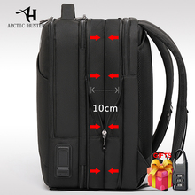ARCTIC HUNTER Man 배낭 맞는 15.6 인치 노트북 USB 충전 다층 고용량 여행 남성 가방 배낭