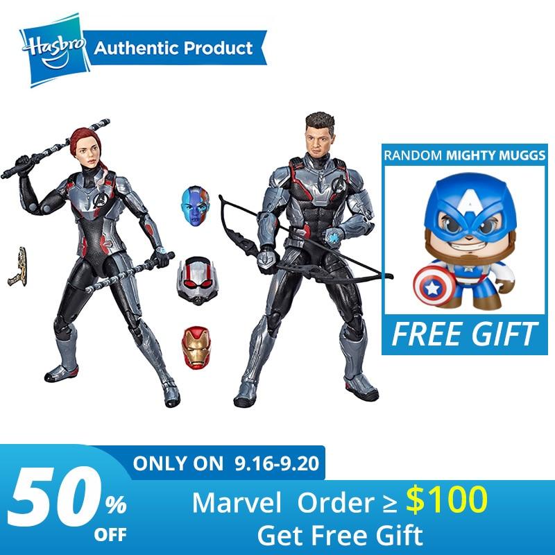 Série de légendes de Hasbro Marvel costume de l'équipe de légendes de la Figure Hawkeye de la veuve noire Marvel 2 paquets 2PK Avengers homme fourmi de 6 pouces