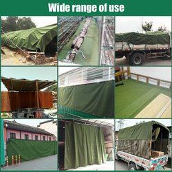 Di Tela pesante Tarp Telone Verde Tenda Esterna Panno Ripari per il sole Tarp Tenda Impermeabile Ombra Parasole Accessori