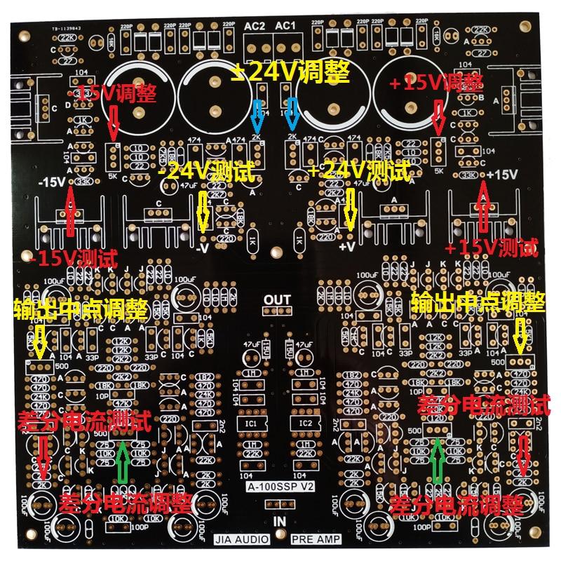 Lusya Goldene Kehle Preamp Audio A100 Upgrade HIFI PCB Verstärker Bord A100SSPV2 T1317