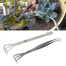 Многофункциональные садовые грабли из нержавеющей стали бонсай корень ослабить почвенный шпатель