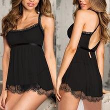 Mais tamanho noite vestido de noite camisola sexy renda retalhos lingerie vestido de noite roupa de noite roupa de noite roupas femininas quentes 2019
