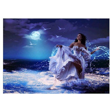DIY 5D diamond painting landscape girl cross stitch mosaic embroidery pattern rhinestone