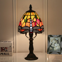 터키어 모자이크 테이블 램프 패브릭 갓 침대 사이드 테이블 램프 침실 거실 tiffanylamp 테이블 실내 홈 우정 램프