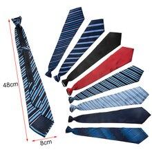 Галстук на молнии галстук ленивый для мужчин полиэстер шелк классический изысканный