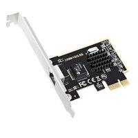 Único porto rj45 2.5g/1000 m/100 m/10 m gigabit ethernet pci express rede com fio lan nic cartão para deaktop win10