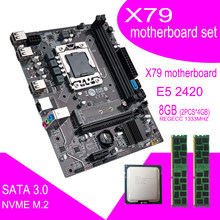 X79A Placa base con Xeon LGA 1356 E5 2420 cpu 2 uds x 4GB = 8GB 1333MHz pc3 10600R DDR3 ECC REG ram de memoria(China)