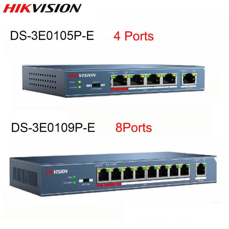 Hikvision DS-3E0105P-E DS-3E0109P-E 4 Ports & 8 Ports 100Mbps Unmanaged PoE Switch DS-3E0105P-E DS-3E0109P-E