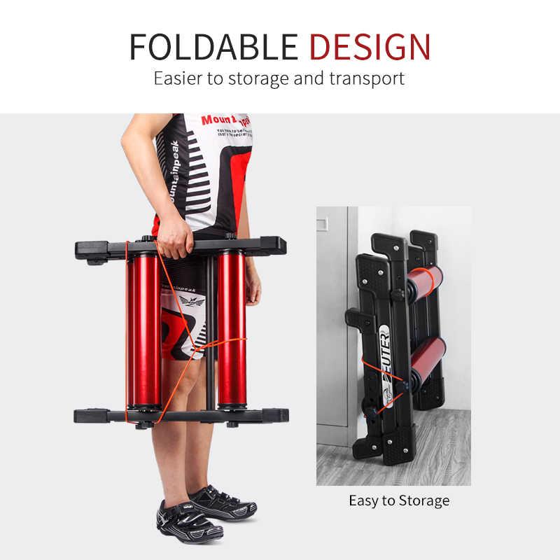Sepeda Rol Indoor Stasioner Latihan Sepeda Roller Trainer Belt Berdiri Aluminium Alloy MTB ROAD Sepeda Rumah Bersepeda Pelatihan