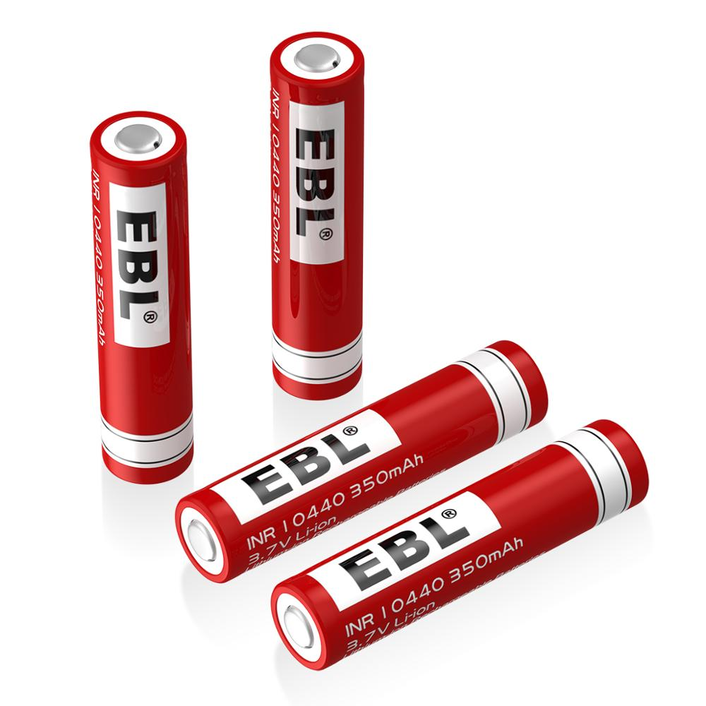 4*EBL <font><b>3.7V</b></font> <font><b>350mAh</b></font> 10440 Li-ion Rechargeable <font><b>Battery</b></font> for Flashlight Torch + Box A1 image