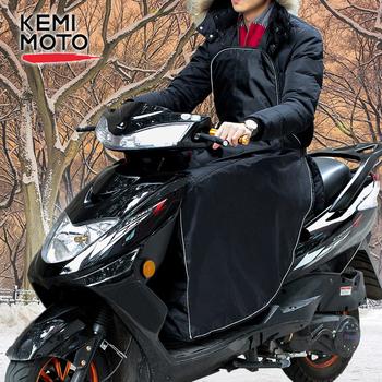 KEMiMOTO skutery noga pokrywa kolana koc cieplej dla Vespa GTS wodoodporna wiatroszczelna motocykl zima kołdra dla Honda dla Peugeot tanie i dobre opinie leg cover For Stooter 50-65 cm 50 cm 38-48 cm 60 cm 38-60 cm 33 x 29-41 cm up to 96 cm up to 106 cm waterproof