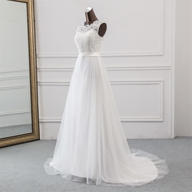 New Applique wedding dress formal robe mariage Vestidos de Novia bridal dress vestido de festa Beach wedding dresses 4