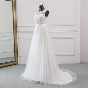 Image 4 - 새로운 Applique 웨딩 드레스 정장 가운 mariage Vestidos 드 Novia 신부 드레스 vestido 드 페스타 비치 웨딩 드레스