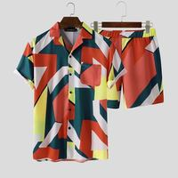 Co-ord Pattern Print Beach Suit 4