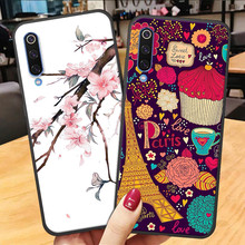 3D Flower Emboss Case Xiaomi Mi 8 A2 Lite A3 TPU Silicone Back Cover mi a3 Cute Cartoon Shell