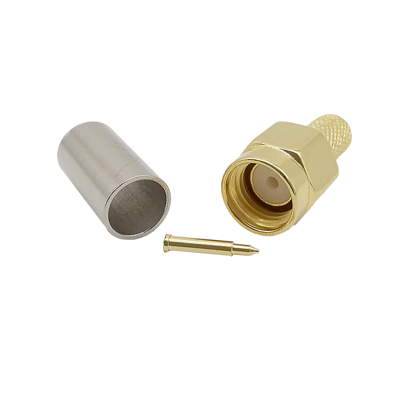 ALLiSHOP 10pcs SMA Male Brooches Plug Gold Plated Brass 50 Ohms Standard RF Coaxial SMA For RG-58 LMR-195 RG142 RG400 Connector