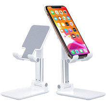 Desk Mobile Phone Holder Stand For iPhone iPad Xiaomi Samsung Adjustable Desktop Tablet Holder Universal Table Cell Phone Stand(China)